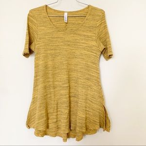 Lularoe ribbed Perfect T in Mustard - Sz S